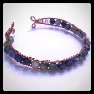 Artisan Gemstone Cuff Bracelet